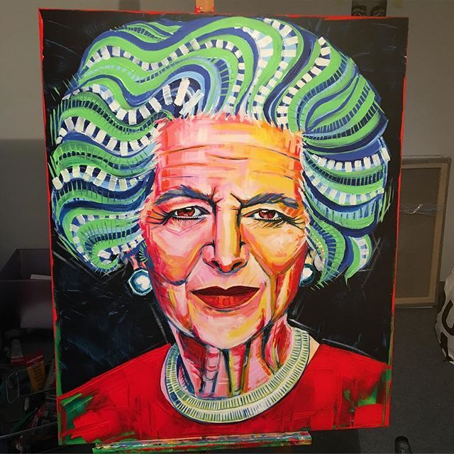 Margarat Thatcher/akryl 100x80 #margaretthatcher #thatcher #art #acrylicpainting #passion #work #painting #clarise #ulakaminska