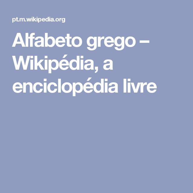 Alfabeto grego – Wikipédia, a enciclopédia livre