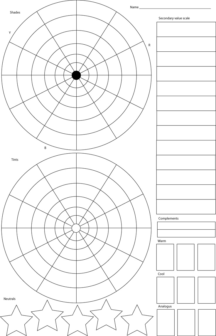 Color theory worksheet for kids - Color Wheel Worksheet