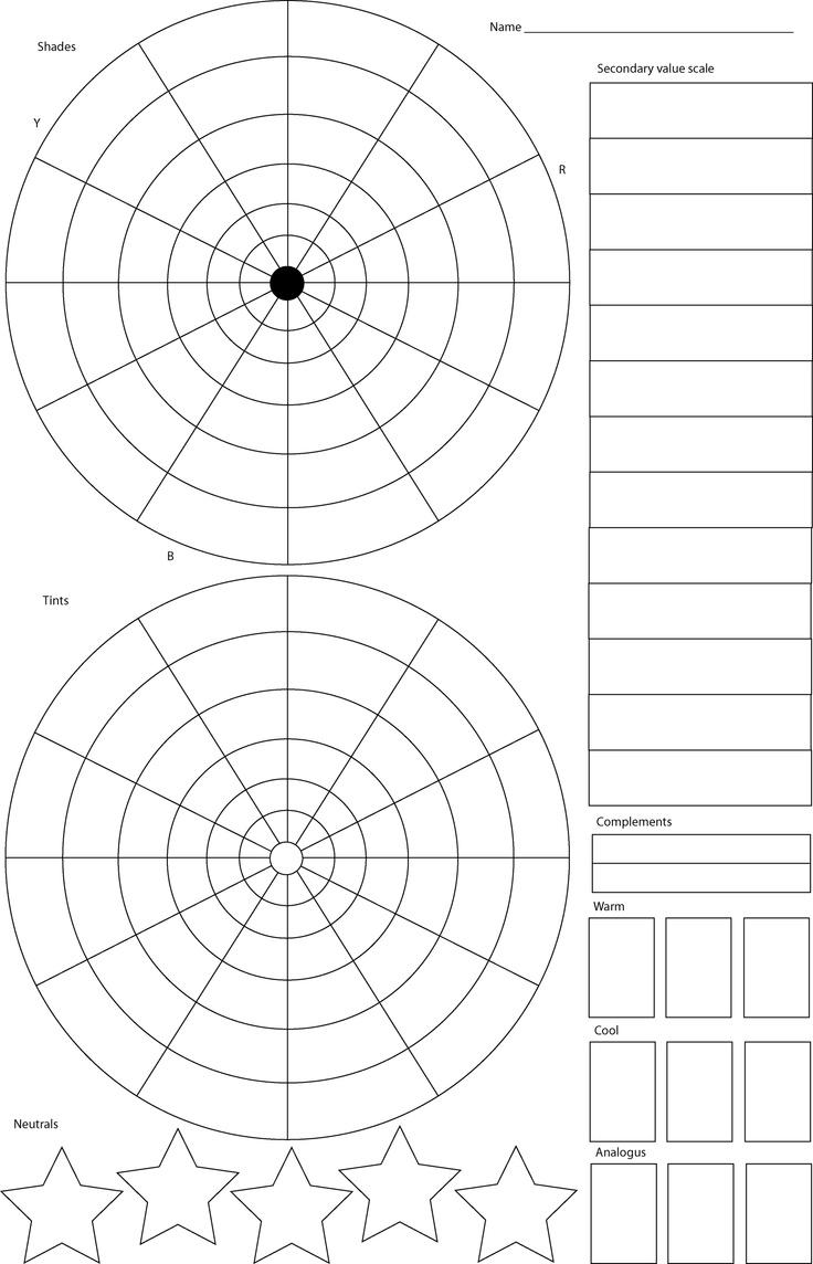 Color theory worksheet for kids - Color Wheel Worksheet