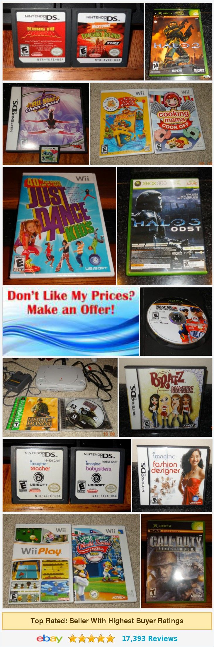 Shop here for great games! Wii, Nintendo, XBox!Great deals from TLNS Resale Used Vintage Shop | eBay store http://stores.ebay.com/TLNS-Resale-Used-Vintage-Shop/_i.html?_nkw=game&submit=Search&_sid=65841859