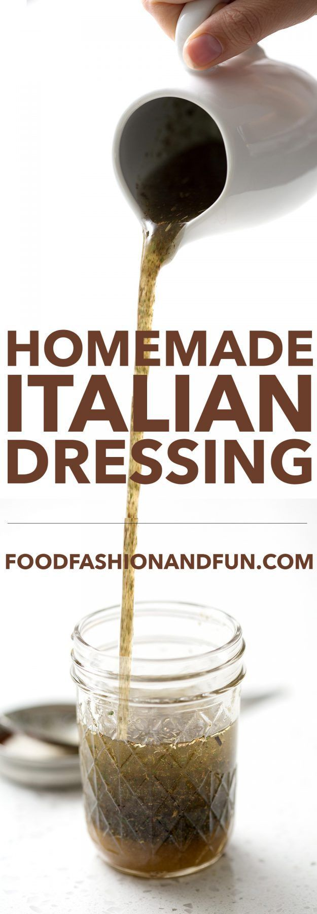 Easy Italian Dressing recipe made of pantry staples. You'll never have to buy store-bought again. This recipe is allergy friendly, AIP, paleo & vegan.
