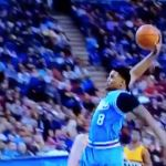Rudy Gay throws down monster dunk - http://blog.clairepeetz.com/rudy-gay-throws-down-monster-dunk/