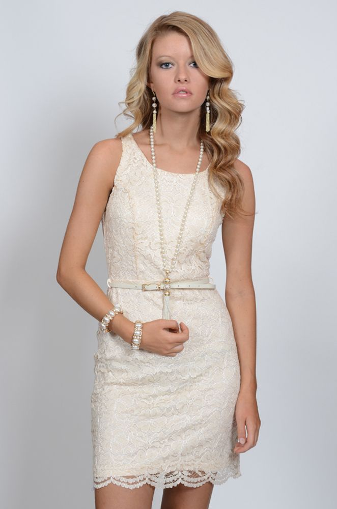 The Great Gatsby Dress Lace Vintage Pearls