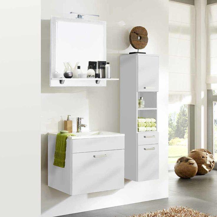 Badezimmer Kombination In Hochglanz Weiß Kaufen (3 Teilig) Jetzt Bestellen  Unter: Https
