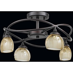 like for craft room: Semiflush Ceilings, Ceilings Lights, 4 Lights Semi Flush, Retro 4 Lights, Semiflush Lights, Lights Ideas, Semi Flush Lights, Retro Semiflush, 4Light Semiflush