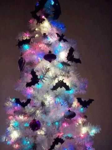 Batty Xmas Tree @Bridgitte Ball Ray Almost thought this was your tree on Pintrest.... Almost. Yours does have a few NBC ornaments on it.