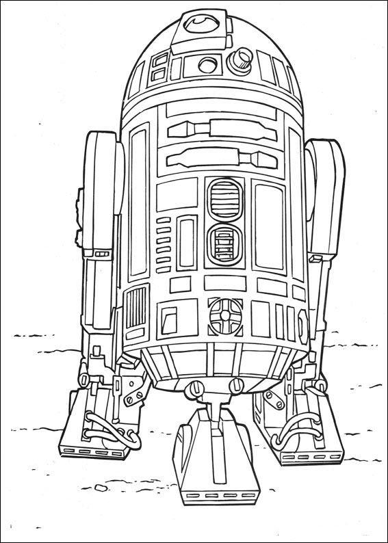 Star Wars Målarbilder för barn. Teckningar online till skriv ut. Nº 39