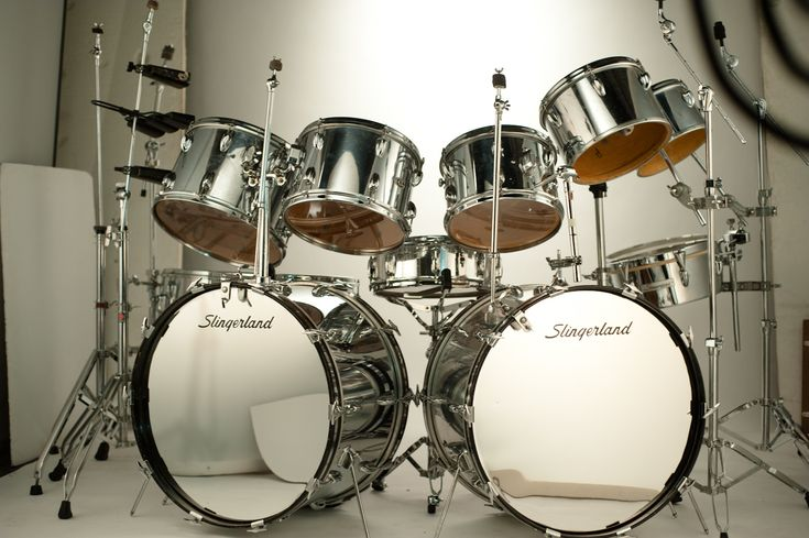 Chrome Slingerland Double Bass Drum Sets Pinterest