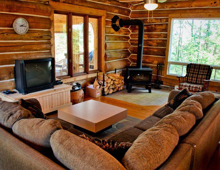 Chalet en bois rond recherche google chalet pinterest cabin house an - Interieur chalet en bois ...