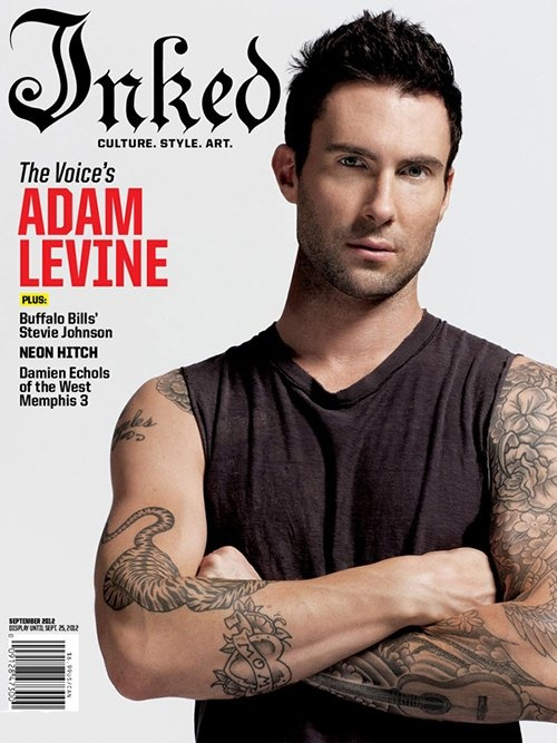Adam Levine Covers Inked Magazine September 2012