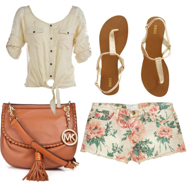 these shorts!: Floral Prints, Floral Shorts, Print Shorts, Style, Michael Kors, Cute Outfits, Summer Outfits, Prints Shorts, Bags