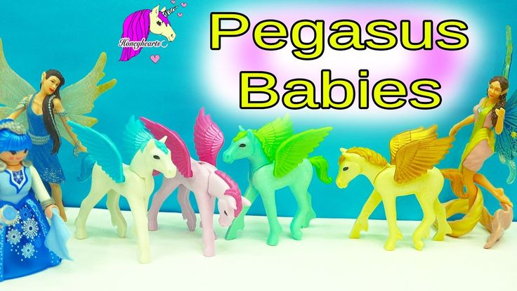 Schleich Fairy Welcomes New Baby Pegasus Foals - All 4 Playmobil Princes...