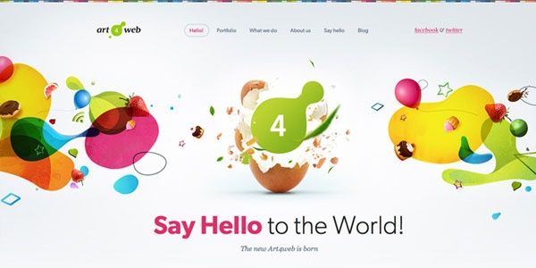 15+ Amazing Examples of Colorful Web Designs for Inspiration