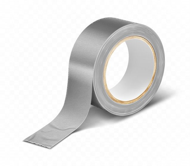 Download Gray Silver Duct Roll Adhesive Tape Realistic For Free Adhesive Tape Adhesive Tape