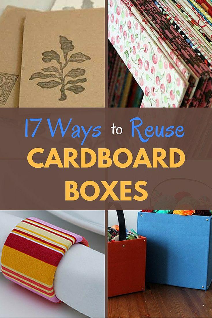 17 Creative Ways To Reuse Cardboard Boxes Cardboard Box