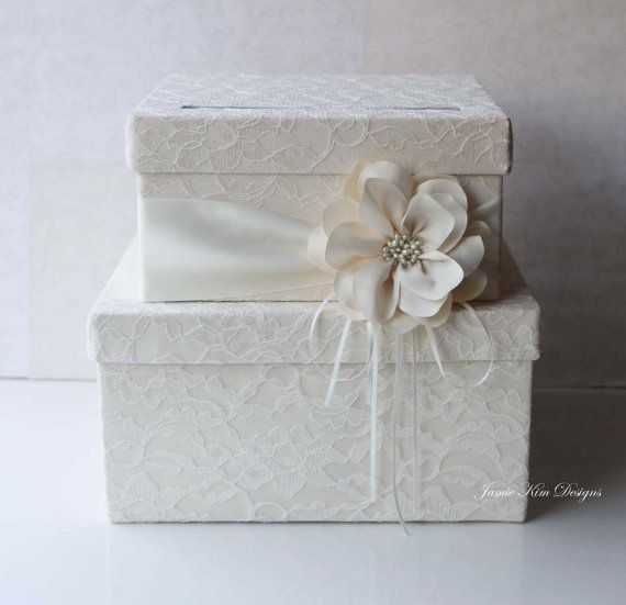 How To Wrap A Wedding Gift Box : Card Box Wedding Money Box Gift Card Box - Custom Made Wedding, Gift ...