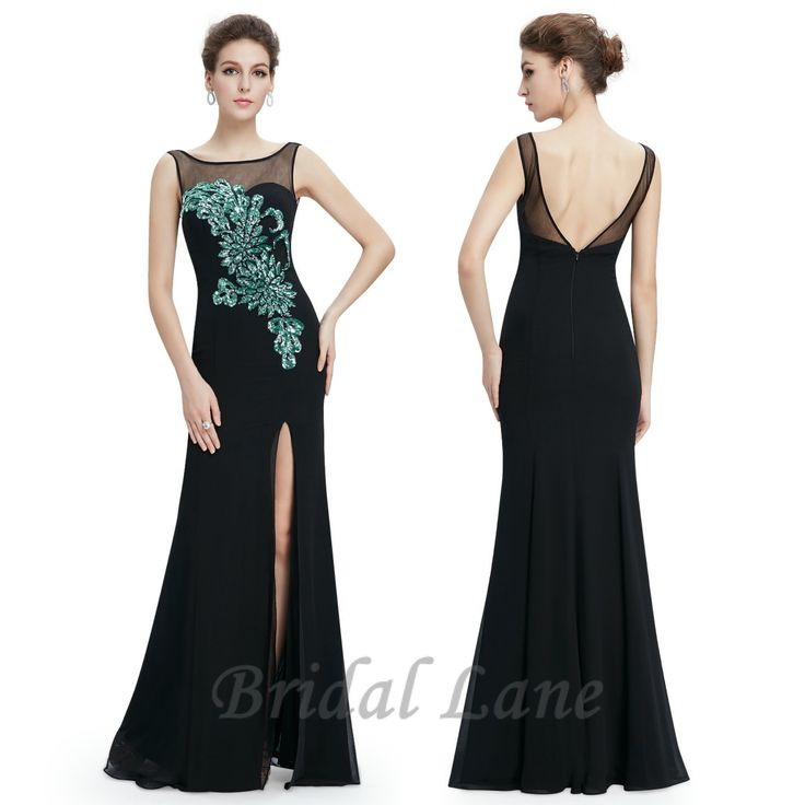 Black evening dresses with a slit for matric ball / matric farewell in Cape Town - Bridal Lane ♥