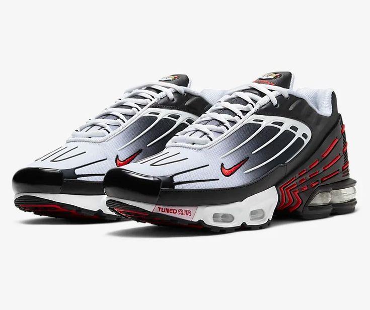 Nike Air Max Plus III Noir/Blanc/Noir/Rouge université pas cher ...