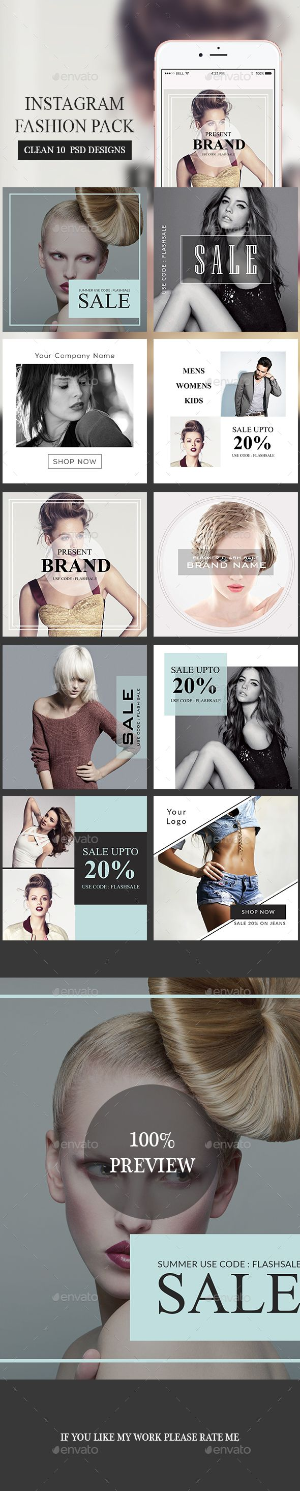 Fashion Instagram Banner Templates PSD. Download here: https://graphicriver.net/item/fashion-instagram-banners/17537745?ref=ksioks