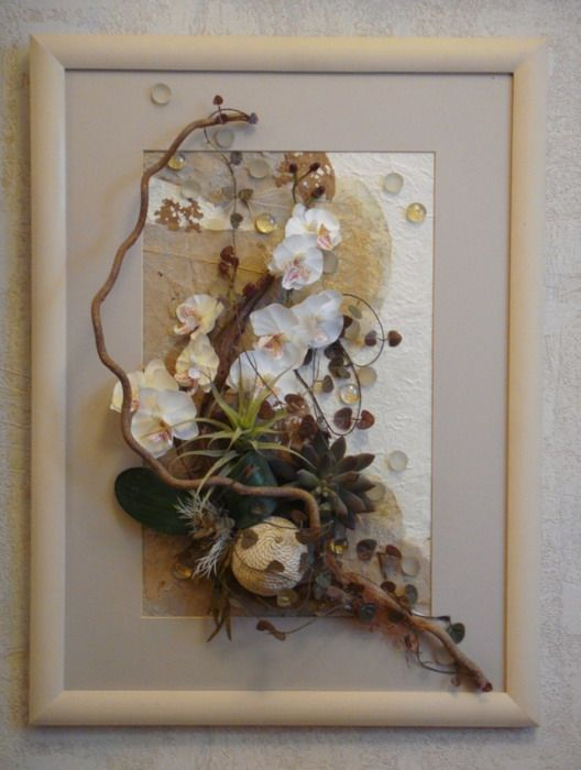 Картина из сухих растений для декорирования помещений