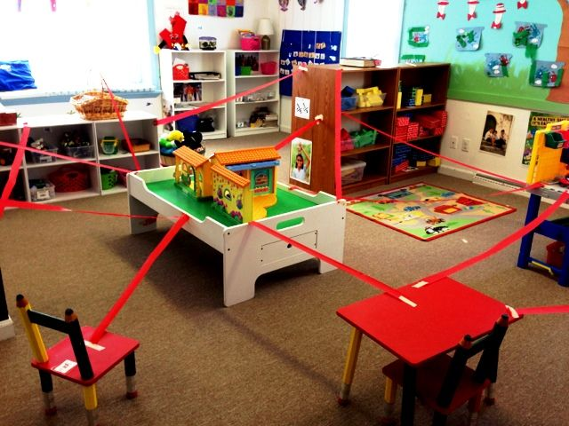 Arrange the classroom with lasers!  All day they have to avoid the 'laser beams'.  Lots of extra movement for indoor recess days.