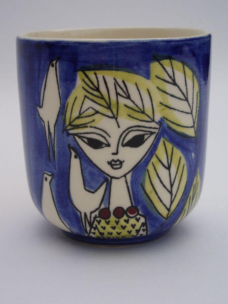 Vintage Small Vase by Inger Waage for Stavangerflint Norway 1950s 1960s
