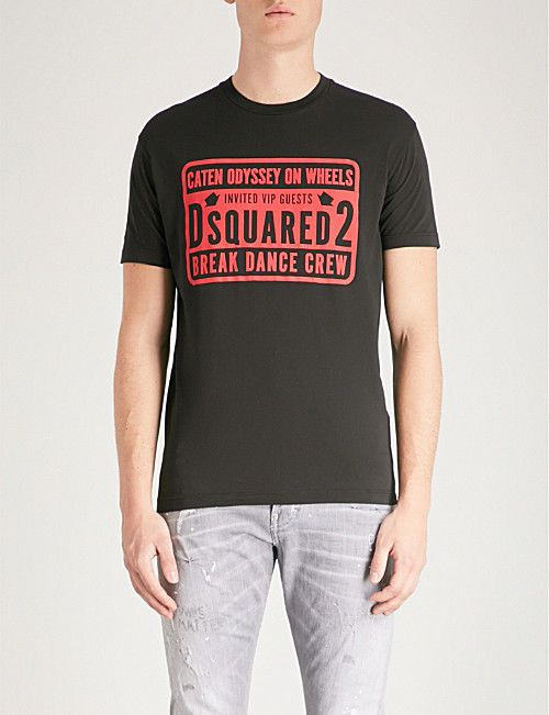 754a930cf3dfd NEW DSQUARED2 Men s T-Shirt Break Dance Crew in Black size XXL  fashion   clothing  shoes  accessories  mensclothing  shirts  ad (ebay link)