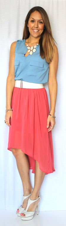 Today's Everyday Fashion: The High-Low Skirt — J's Everyday Fashion