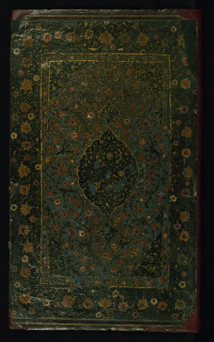 Binding - This lacquer binding is decorated with polychrome floral motifs. It probably dates to the tenth century AH / sixteenth CE. W621