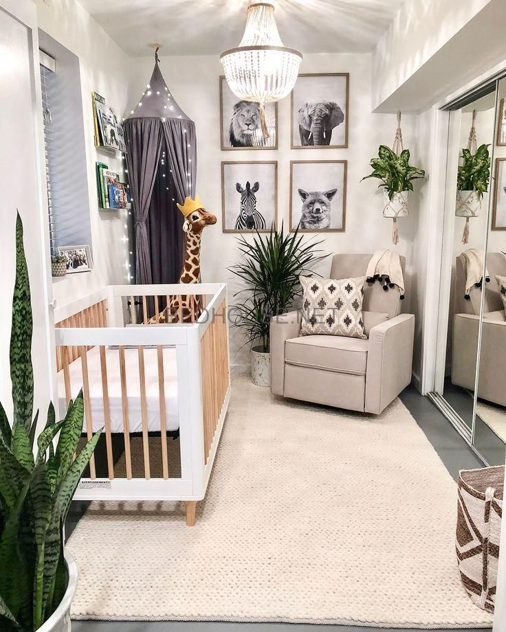 Modern Neutral Nursery Full Of Plants Baby Room Design Baby