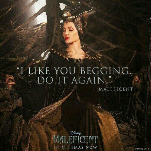 Stephan: please, Maleficent. Maleficent: all right... The princess can be awoken! But only by... True loves kiss.