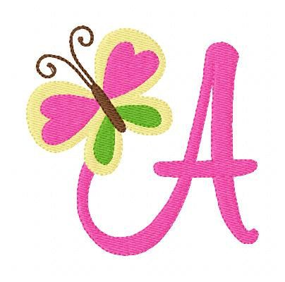 Butterfly Peace Machine Embroidery Monogram by JoyfulStitchesEtsy, $15.00
