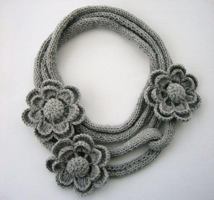 Versatile crochet necklace scarf lariat    http://www.etsy.com/shop/CraftsbySigita?ref=si_shop