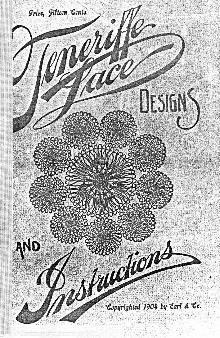 Teneriffe lace : designs and instructions (1904)   full free pdf download  (Teneriffe works well to use in the center of tatted circles for applique)