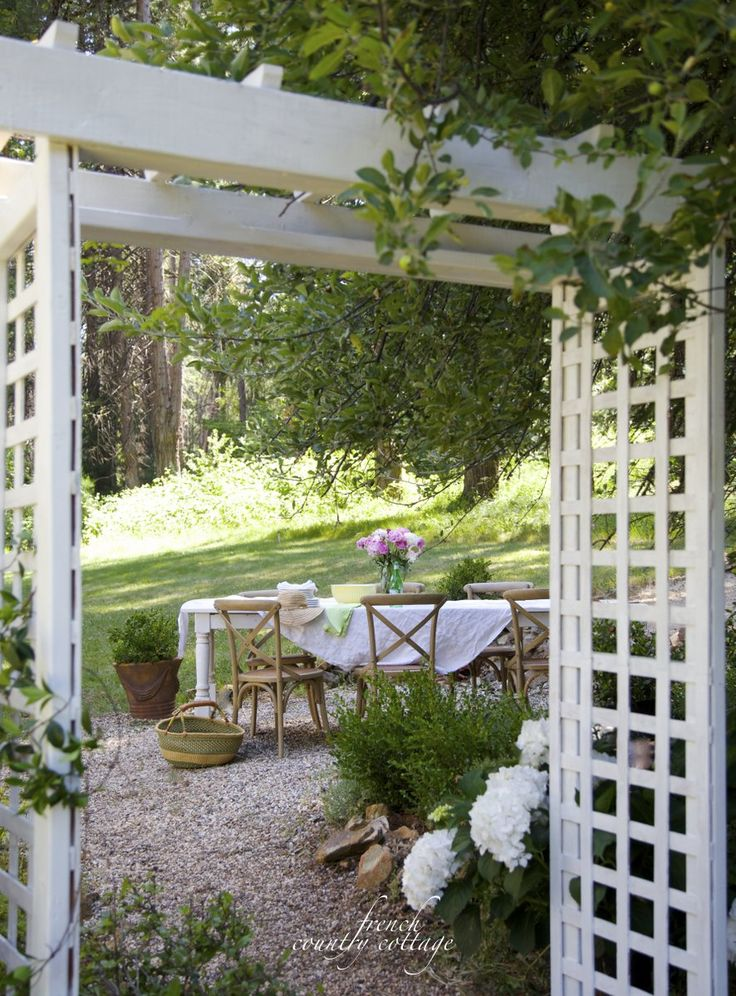 French Country Cottage Cottage Garden Arbor Romantic