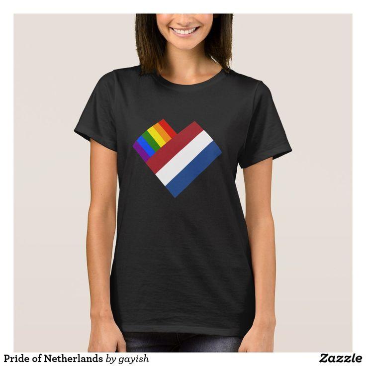 Pride of Netherlands t-shirt. #gaypride #gayrights #tshits #prideshirt #pride #flags #heart #holland #netherlands #gayholland #gaynetherlands