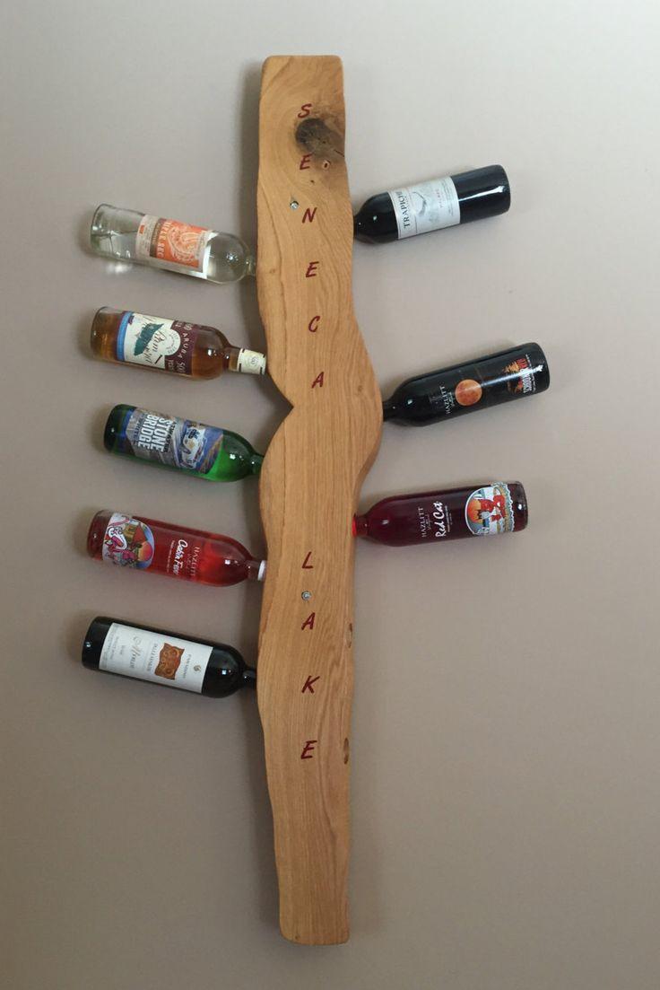 Wine rack (Seneca Lake) by Weldworktowoodwork on Etsy https://www.etsy.com/listing/275210004/wine-rack-seneca-lake