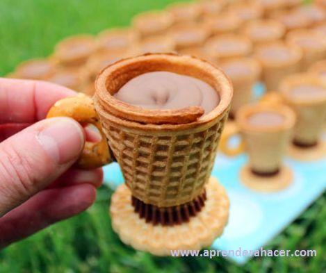 Aprender a Hacer - Manualidades para niños | Originales tazas de te comestibles