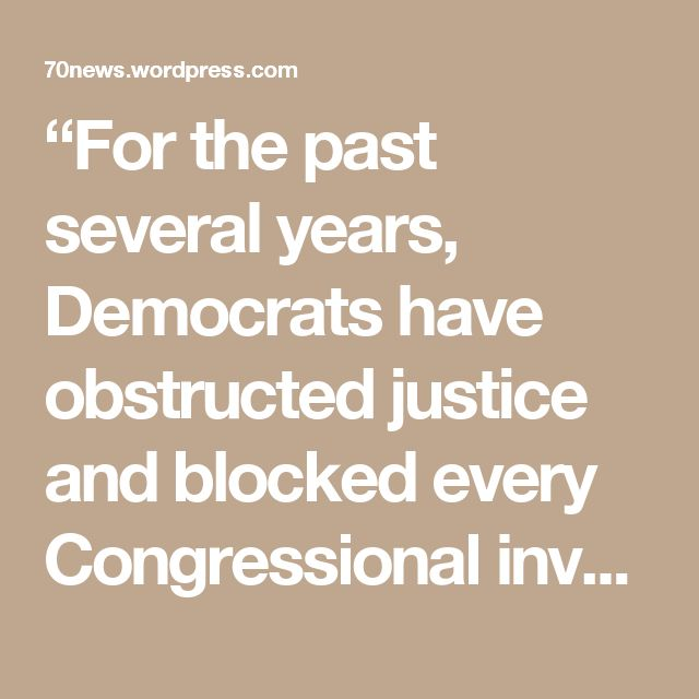"""""""For the past several years, Democrats have obstructed justice and blocked every Congressional investigation imaginable,"""" said Rep. Jim Jordan, R-Ohio, another sponsor of the amendment, in a statement to the Washington Examiner. """"Both parties have criticized James Comey over the past year for his performance as FBI director. Even Sen. Feinstein [Dianne] says there should be an investigation into Loretta Lynch and James Comey's handling of the Clinton investigation. Let's have a special…"""