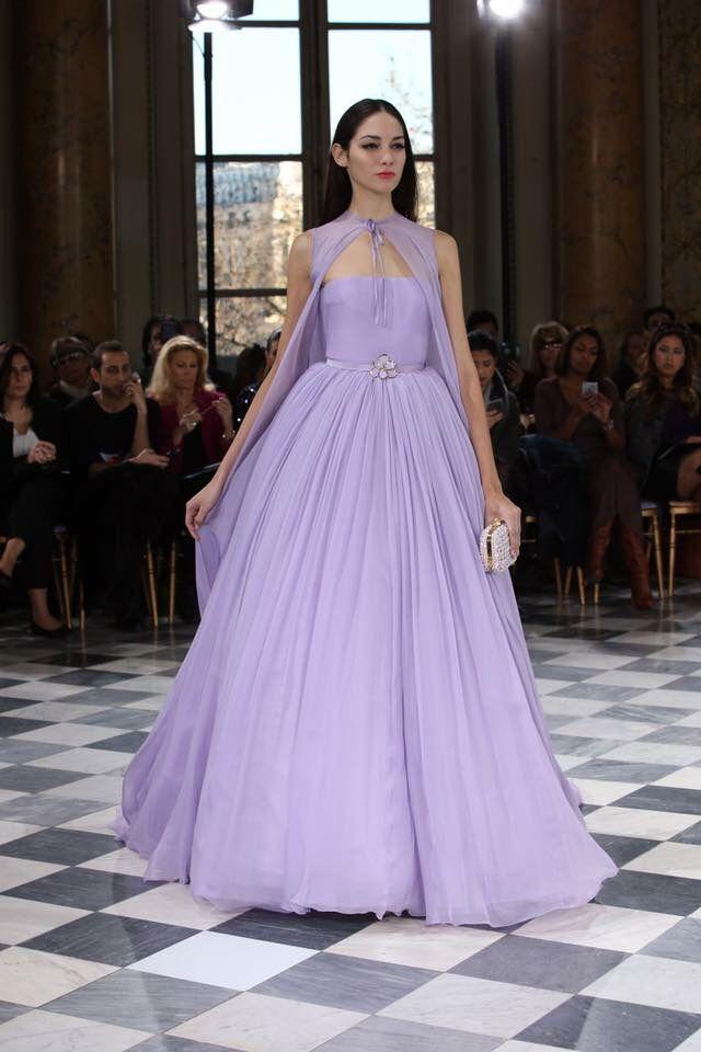 Floating on lavender dreams...#GEORGESHOBEIKA #SS2016 Couture. #parisfashionweek #hautecouture #Couture #pfw #paris #Grammys #monnaiedeparis