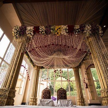 mandap design - Prerna & Ayush's Glamorous Indian Wedding - Collection