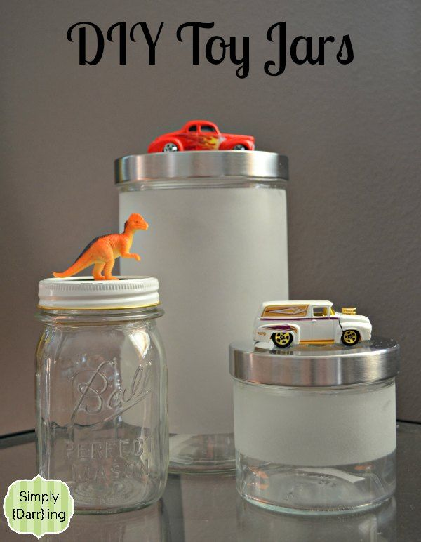 Diy toy jars small bathroom storage kids christmas and for Small bathroom jars