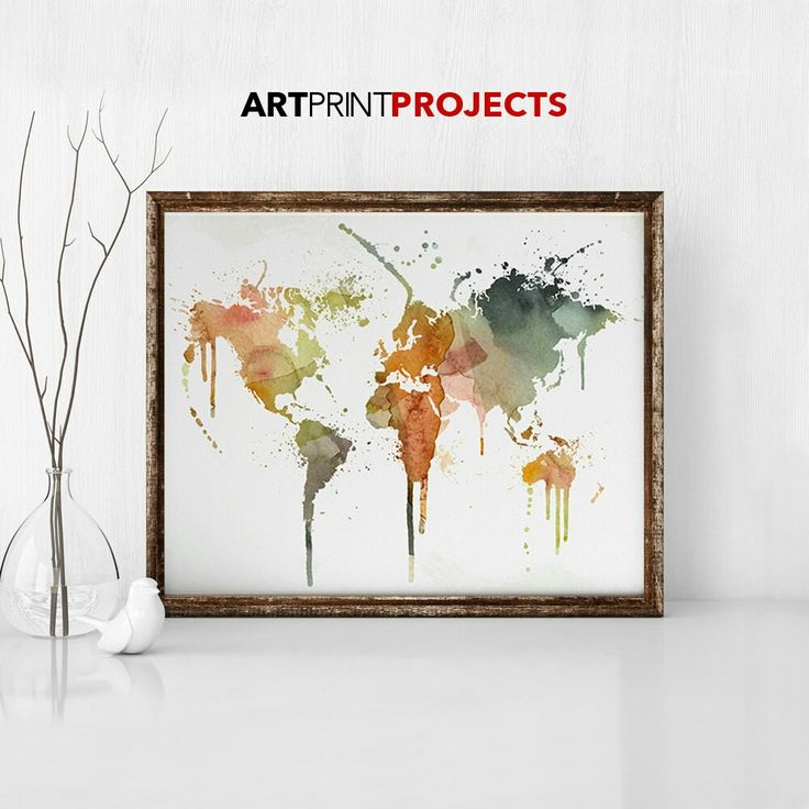 Excited to share the latest addition to my #etsy shop: World map art, large world map print, world map, world map watercolor, world map poster, travel gift, wall art, Home Decor, ArtPrintProjects #art #print #artprint #travelmap #wallart http://etsy.me/2hSt8w5