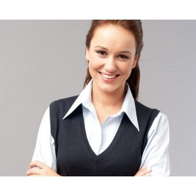 Womens Sleeveless Vest Min 25 - A 50/50 wool viscose fabric vest with contemporary styling. http://www.promosxchange.com.au/womens-sleeveless-vest/p-9398.html