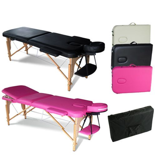 Portable Folding Massage Table Therapy Beauty Salon Tattoo Bed Couch Lightweight