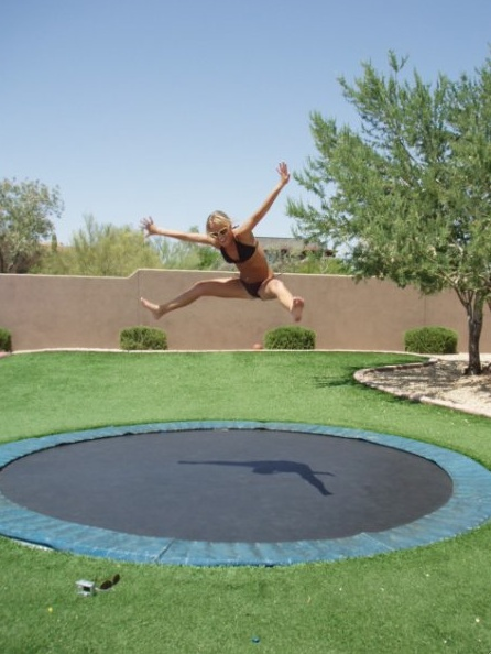 99 best images about in ground trampolines on pinterest cubby houses backyards and yards. Black Bedroom Furniture Sets. Home Design Ideas
