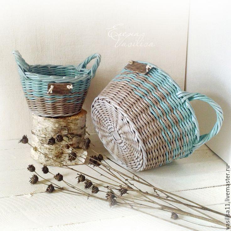 """Купить Корзиночки плетеные """"Удачные"""" набор 2 шт. - плетеные короба, набор, корзины, для хранения"""