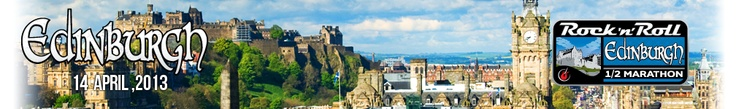 » Edinburgh: Homepage Rock 'n' Roll Edinburgh Half Marathon.  It's in mid April.  This would be an awesome birthday trip in the future.  My favorite UK city!  Great idea!!!