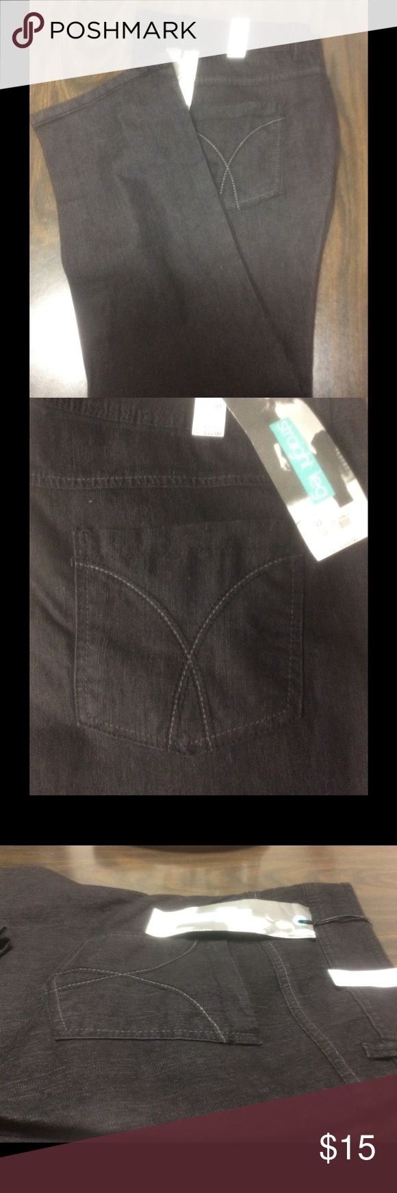 NWT plus size woman's jeans NWT women's plus size straight jeans. My niece purchased them in England. They're a U.K. Size 22 which is a US SIZE 18 they are good quality jeans, they have a slight stretch to them. They cost her £22 which is 27 USD.    Wear them with a blazer and make them look glam with a fierce  shoe. Jeans Straight Leg